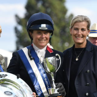 Pippa Funnell HRH Duchess of Wessex Mrs J Clarke prize giving LRBHT TM19 40466