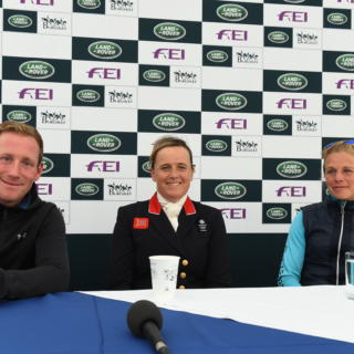 Press conference after dressage phase LRBHT TM19 131460