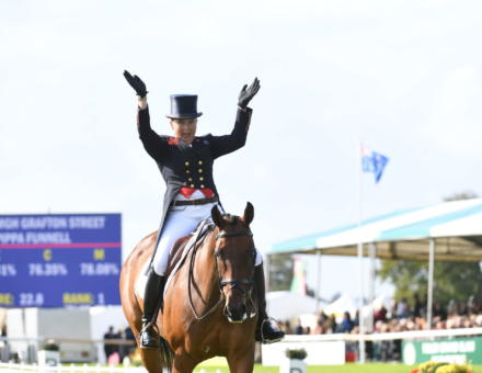 Pippa Funnell MGH GRAFTON STREET LRBHT PN19 113443 after dressage