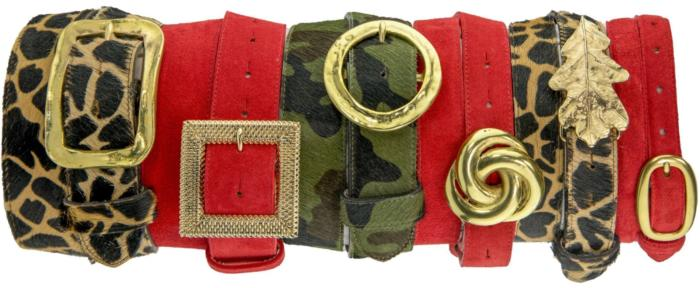 Peachy Belts Red stack 2